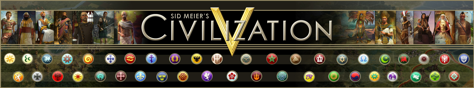 Выбор наций в Sid Meier's Civilization V