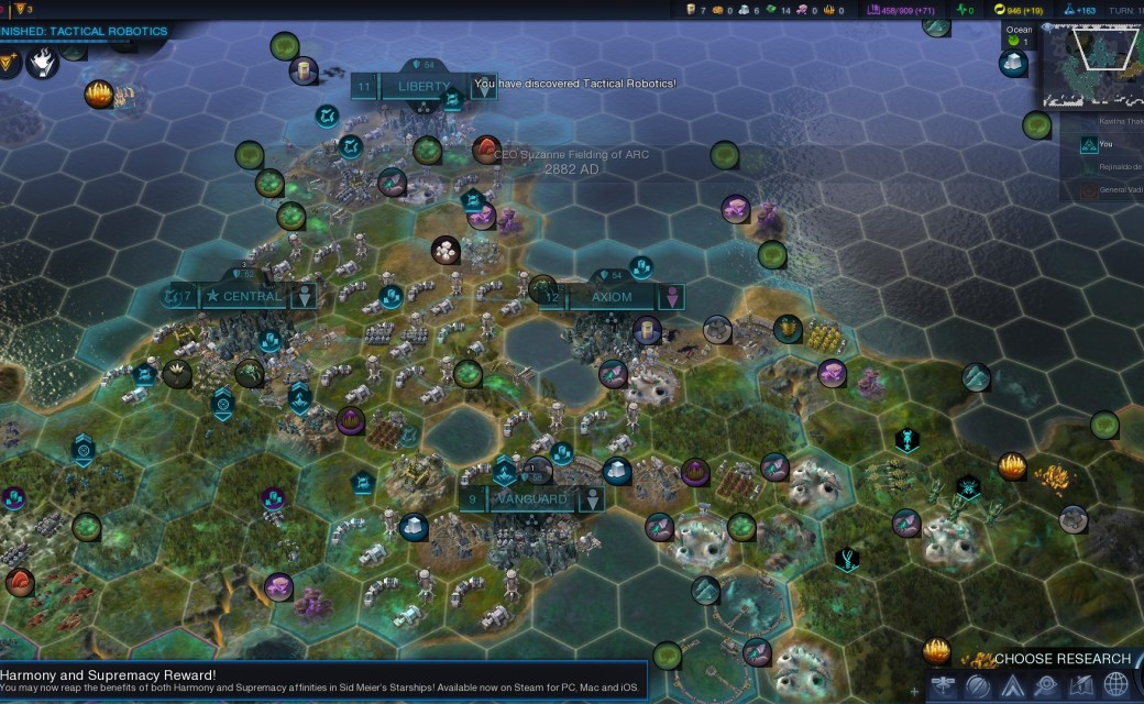 Civilization Beyond Earth — Награда Starships за гибридные парадигмы Гармонии и Превосходства