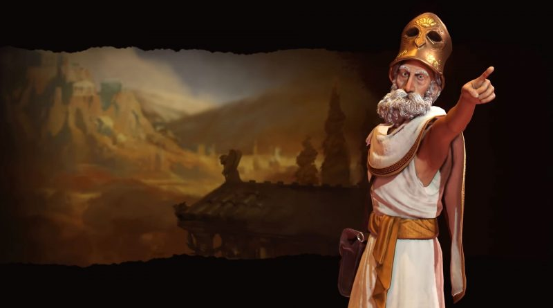 Перикл - лидер Греции в Sid Meier's Civilization VI