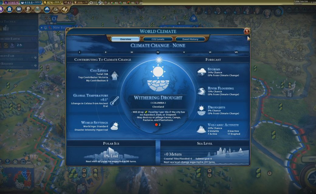 Civilization VI — Gathering Storm — Описание засухи